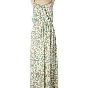 Ann Taylor Loft Like New Leopard Print Maxi Dress